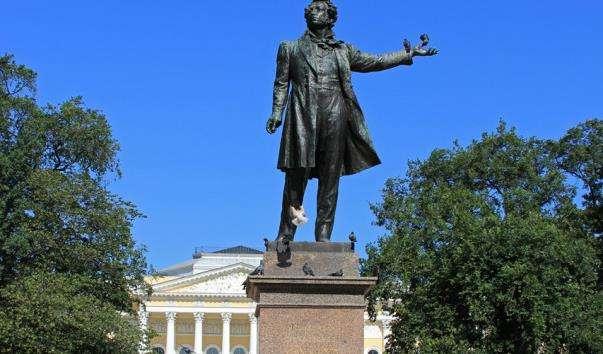 Памятник А. С. Пушкіна в Михайлівському сквері