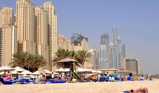 Пляж Дубай Марина
